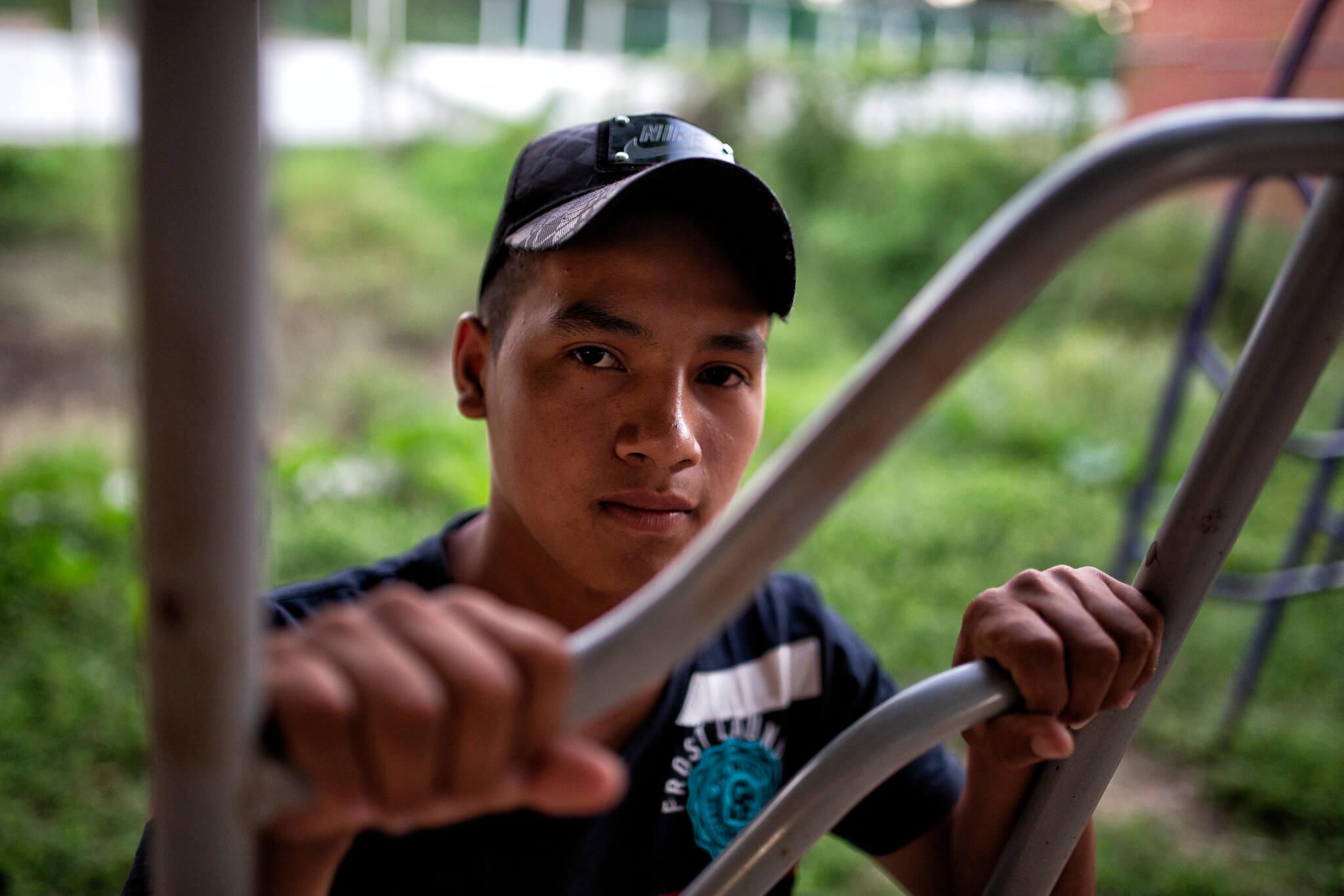 Obel salió de Honduras hace cuatro meses. Foto: Unai Beroiz